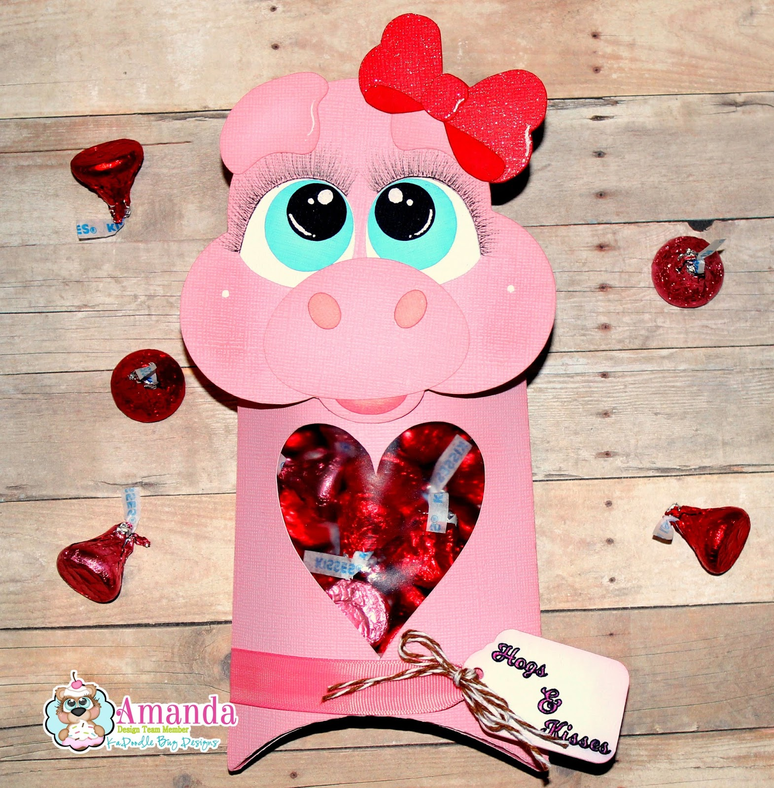 For My Project, I Wanted To Use The Girl Piggy And Thought Itu0027d Be Cute To  Make A Pillow Box Container With Hersheyu0027s Kisses Inside.