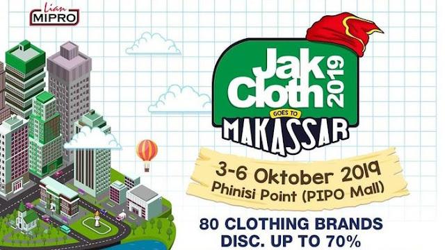 JakCloth Akan Hadir Di Phinis Point Mall Di Makassar Pada Bulan Ini