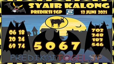 Syair Kalong SGP Minggu 13-Jun-2021