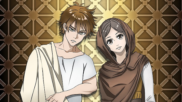 Couple in old clothes (free anime images)