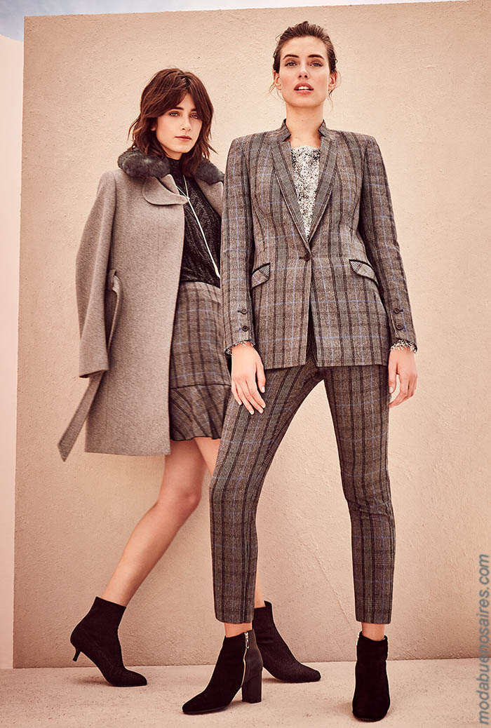 Trajes de mujer otoño invierno 2019 moda.