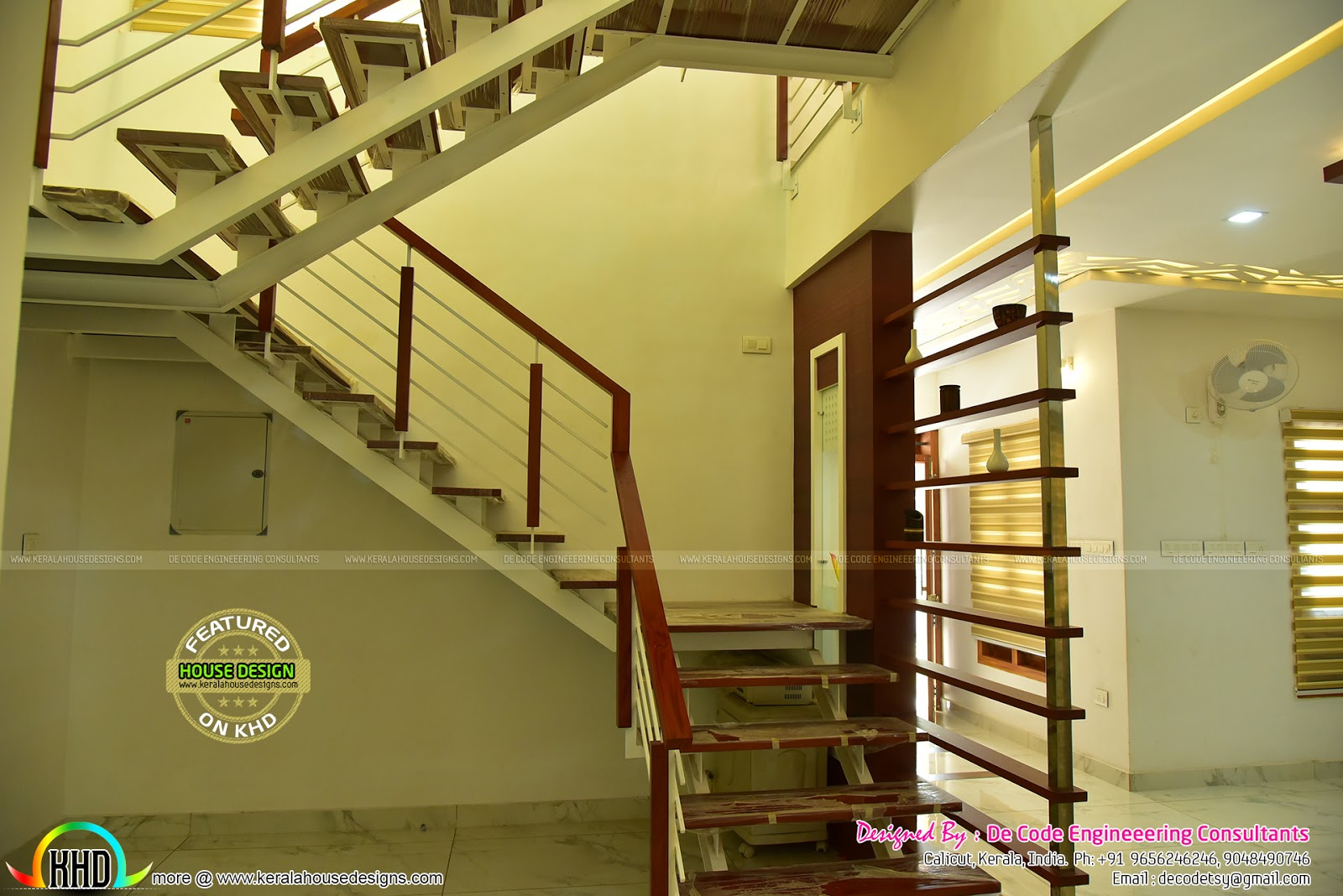 Finished Home And Interiors By De Code Engineering Kerala Home Design And Floor Plans