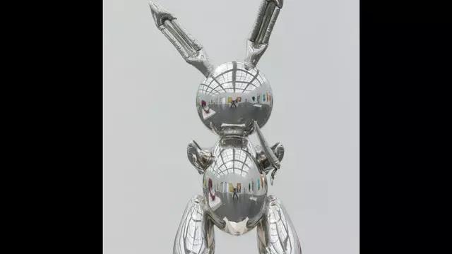 Patung Kelinci Karya Seniman Termahal Laku Terjual Rp 1,3 Triliun