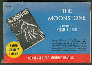 "An armed services edition of ""The Moonstone."""