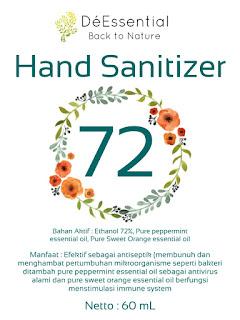 Hand sanitizer pencuci tangan dan anti bakteri