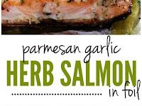 Baked Parmesan Garlic Herb Salmon in foil Recipe