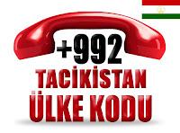 +992 Tacikistan ülke telefon kodu