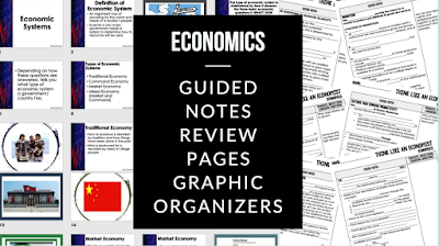Economics Guided Notes & PowerPoint, Economic Notes covers:  Think Like an Economist Guided Notes & PowerPoint Economic Systems Guided Notes & PowerPoint Free Enterprise in the U.S. Guided Notes & PowerPoint Demand Guided Notes & PowerPoint Supply Guided Notes & PowerPoint Prices, Supply, Demand Guided Notes & PowerPoint Market Structures Guided Notes & PowerPoint Business Organizations Guided Notes & PowerPoint Labor Guided Notes & PowerPoint Money, Money, Money, Finance and Banking Coming SOON Economic Performance Coming SOON Government and the Economy Coming SOON Global Economy Coming SOON Personal Finance: Budgeting and Money, Credit, Buying a Car, Getting Insurance, Paying for College, Applying for a Job, Getting Your Own Home, Paying and Filing Taxes Guided Notes & PowerPoint