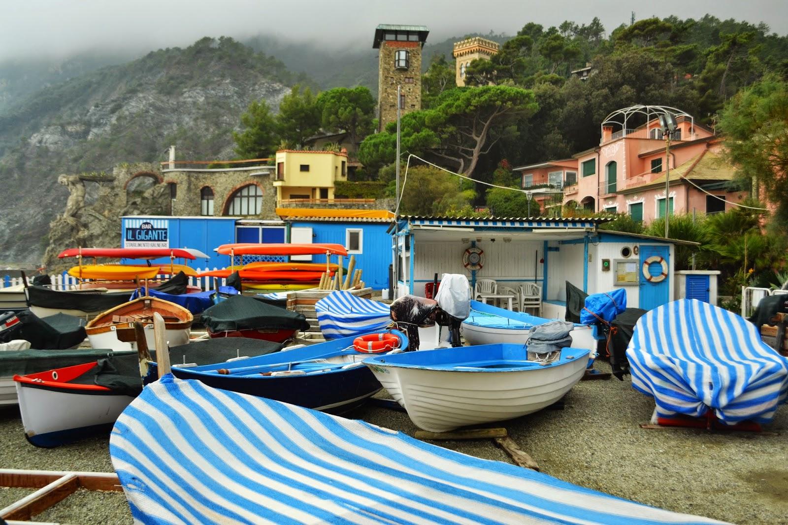 Cinque terre, monterrosso, colourful boats