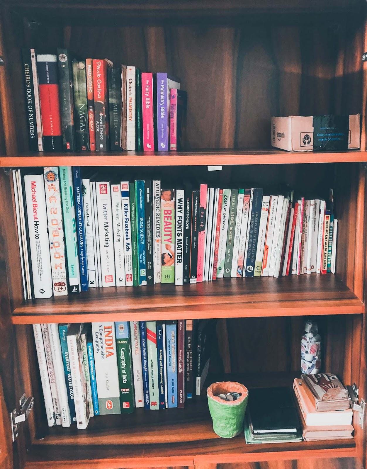 bookshelf inside