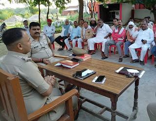 #JaunpurLive : गौराबादशाहपुर में मोहर्रम को लेकर सीओ ने की बैठक