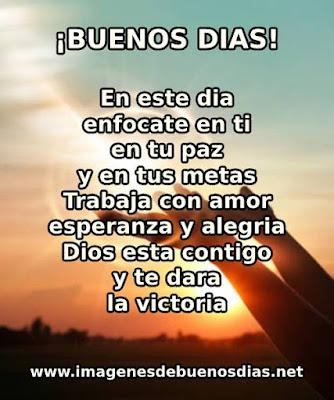 en este dia dios esta contigo y te dara la victoria