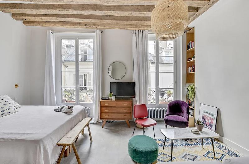 Dormitorio y salón en el mismo espacio