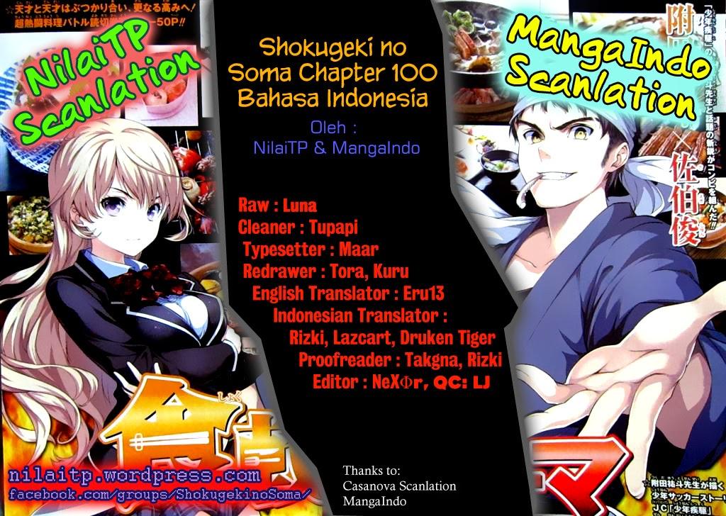 Dilarang COPAS - situs resmi www.mangaku.in - Komik shokugeki no soma 100 - pedang tajam 101 Indonesia shokugeki no soma 100 - pedang tajam Terbaru 1|Baca Manga Komik Indonesia|mangaku.web.id