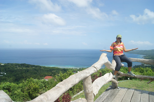 Viewing deck at Triad Restaurant and Coffee Shop in Larena Siquijor Philippines