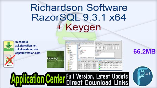 Richardson Software RazorSQL 9.3.1 x64 + Keygen