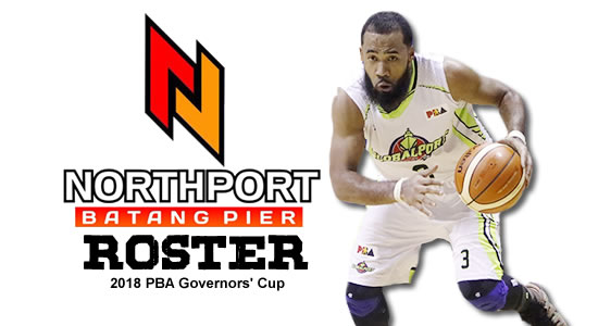 LIST: NorthPort Batang Pier Roster 2018 PBA Governors' Cup