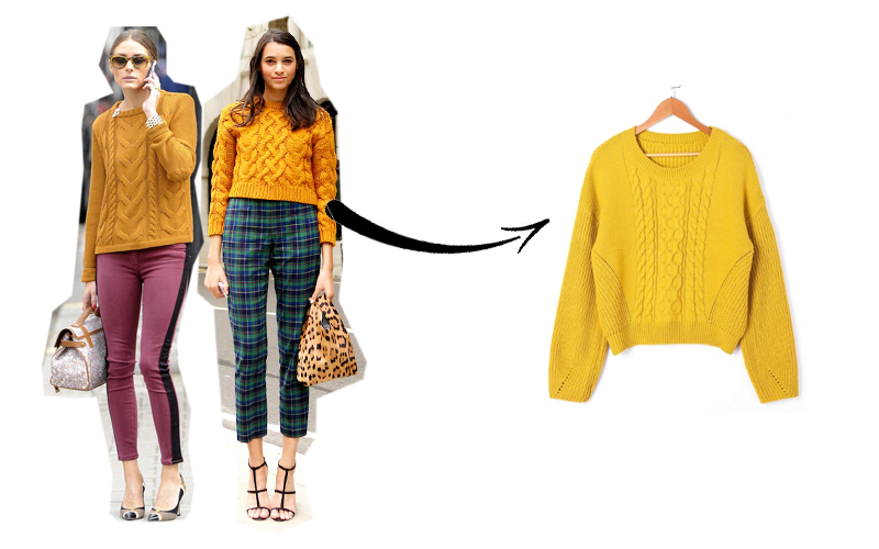 maglione giallo Zaful