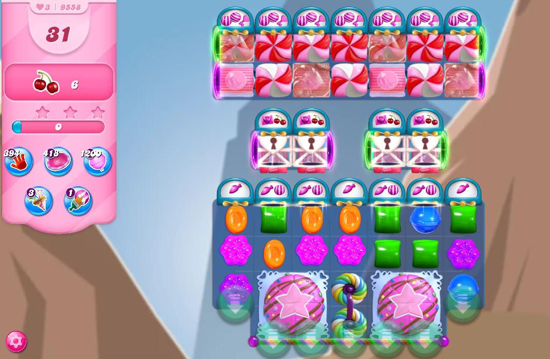 Candy Crush Saga level 9558