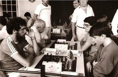 Partida Barbeau vs. Magem en el Open Internacional de Manresa 1985