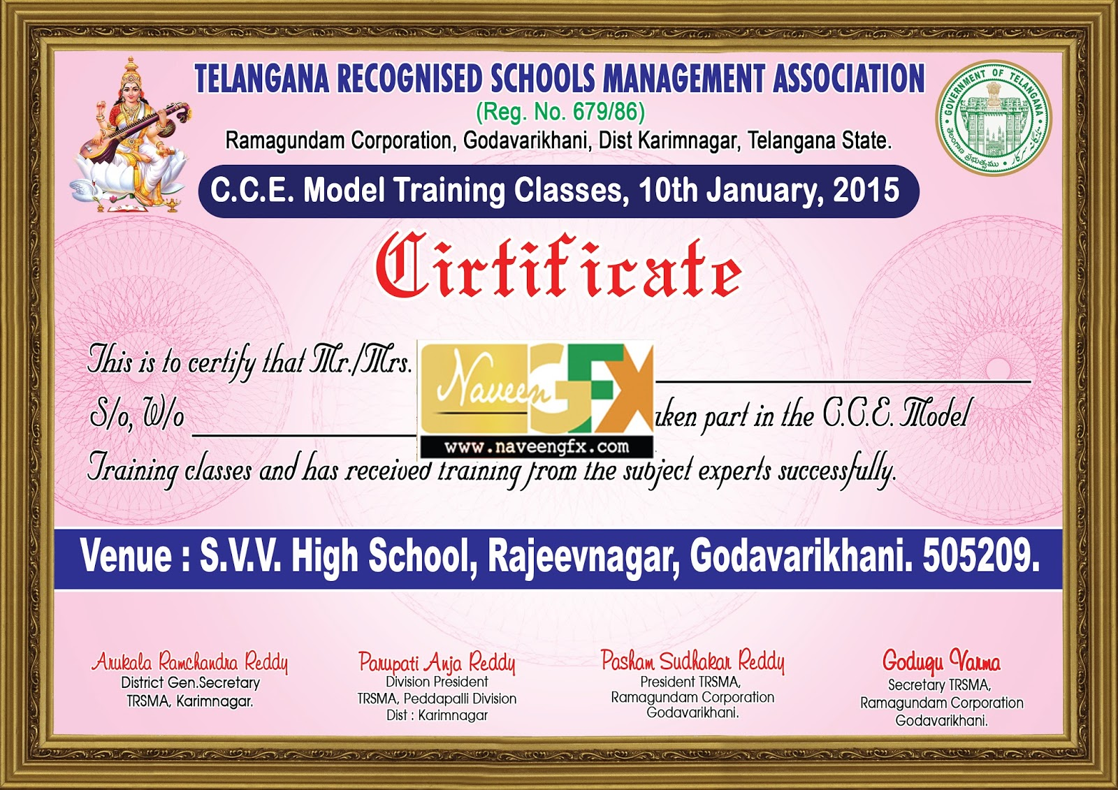 Appreciation Certificate Design Psd Background For Schools Management  Association  Certificate Maker Online Free