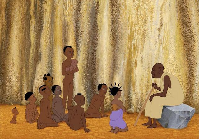 Fotograma de la película de animación Kiriku y la bruja, Kirikou et la sorciere