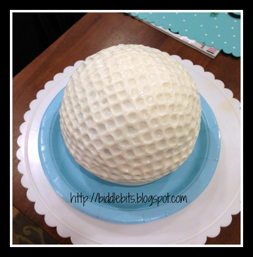 How To Make A Golf Ball Birthday Cake