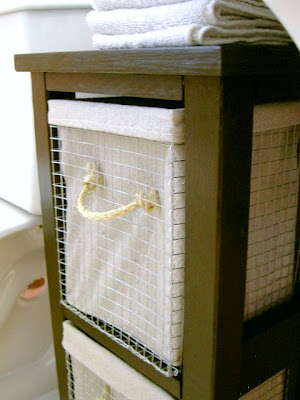 diy wire baskets with drop cloth liners