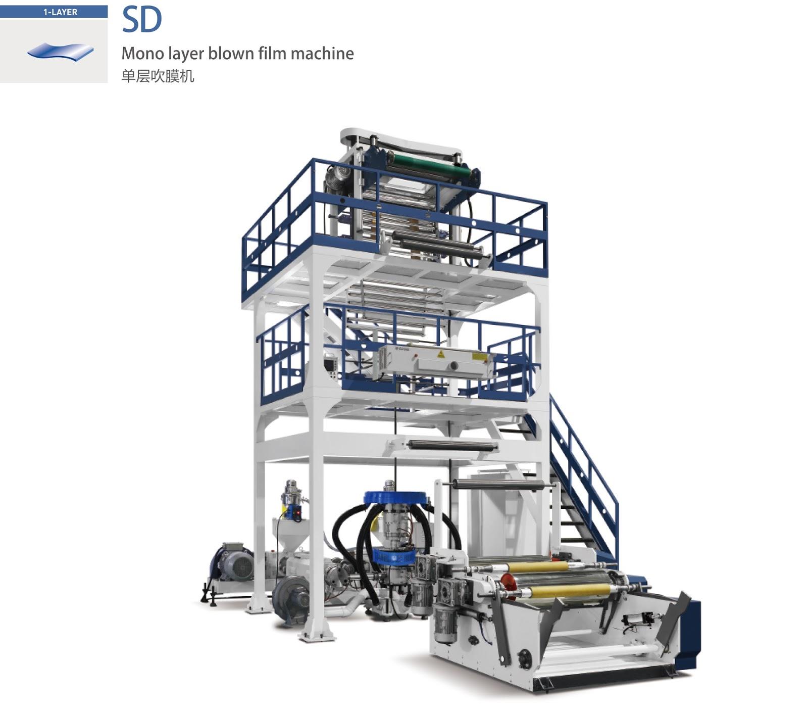 Mono Layer Blown Film Machine   PLASTAR--Plastic Packaging Machinery