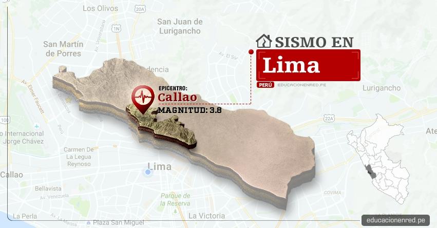 Temblor en Lima de 3.8 Grados (Hoy Viernes 16 Junio 2017) Sismo EPICENTRO Callao - IGP - www.igp.gob.pe