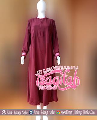 Model Gamis Muslimah Tsaqifah Marun Tua