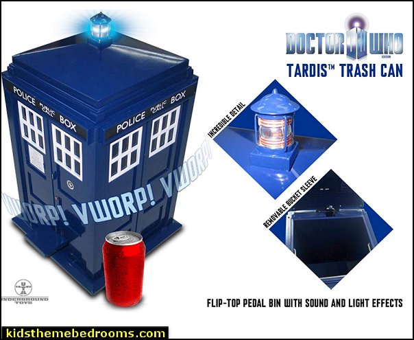 Doctor Who TARDIS Trash Can   Doctor Who bedroom - Doctor Who themed bedroom ideas - decorating Doctor Who theme -  Doctor Who decor - Doctor Who Bedding - dr who bedroom ideas - Dr Who Tardis - doctor who