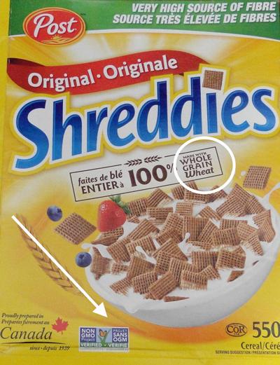 Shreddies Cereal is a Non-GMO Food