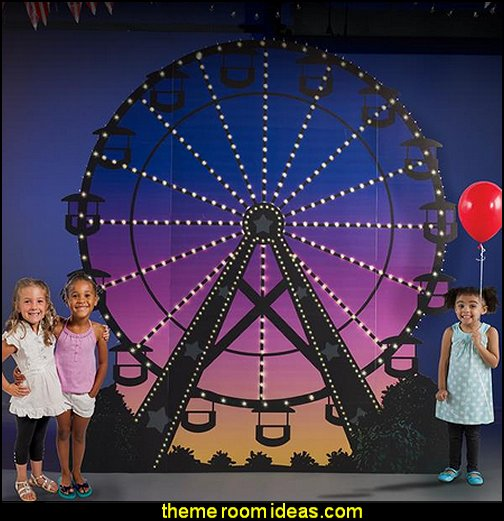 Carnival Spectacular Ferris Wheel circus bedroom ideas - circus theme bedroom decor - carnival theme bedrooms - decorating circus theme bedrooms - Ice Cream theme decor - balloon decor - Disney Dumbo - circus party theme - Roller Coaster Amusement Park wall decals - ice cream party decorations