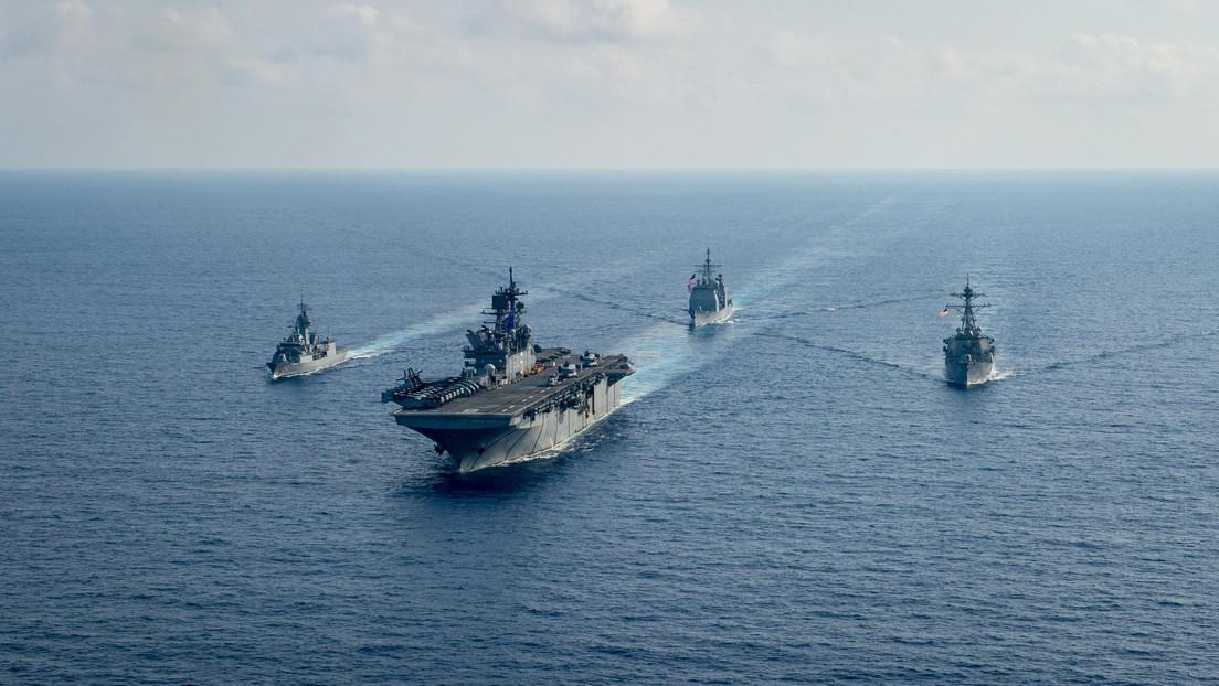 EE.UU., Japón y Australia realizan ejercicios navales conjuntos en mar de China Meridional