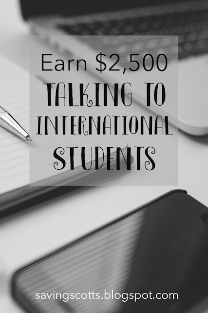 Earn money talking international students
