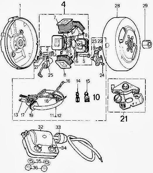 So mecanica para TóTós: Motor Motorizada Peugeot 103