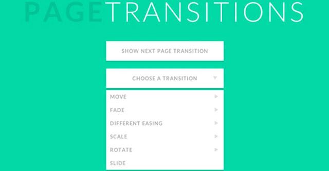 Sitio de transiciones de página