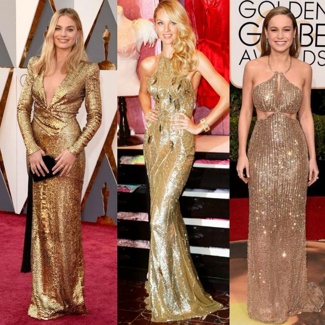 Vestidos dourados