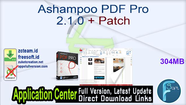 Ashampoo PDF Pro 2.1.0 + Patch_ ZcTeam.id