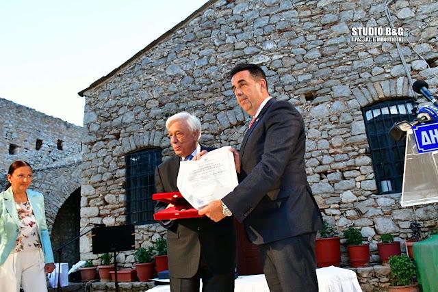 Ναύπλιο: Το Αριστείο Πολιτειακής Αξίας «Ιωάννης Καποδίστριας» απονεμήθηκε στον Πρόεδρο της Ελληνικής Δημοκρατίας (βίντεο)