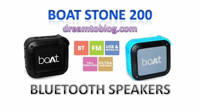 boAT STONE 200 PORTABLE BLUETOOTH SPEAKER