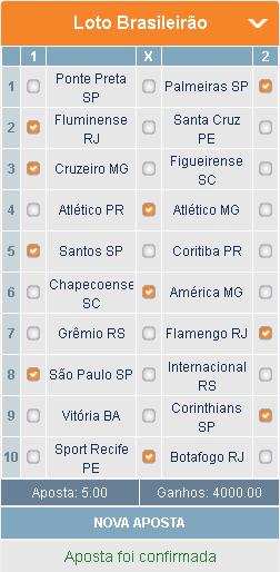 LOTOMOTION BRASILEIRÃO - APOSTA 01