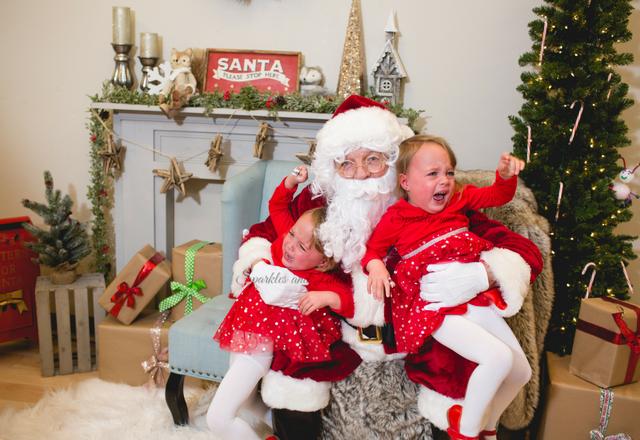 Twins Santa Photo