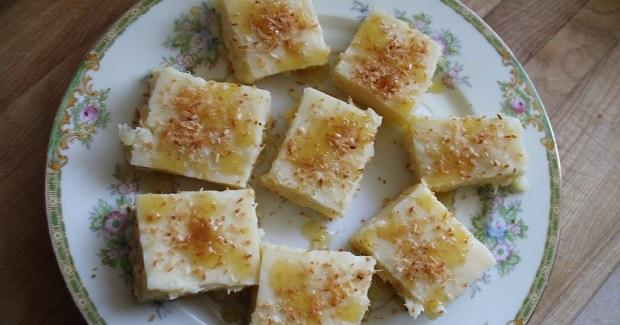 Pineapple Mango Ginger Haupia (Hawaiian Coconut Custard ) Recipe