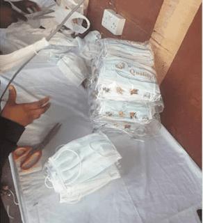 Aba begins mass production of face masks (photos)