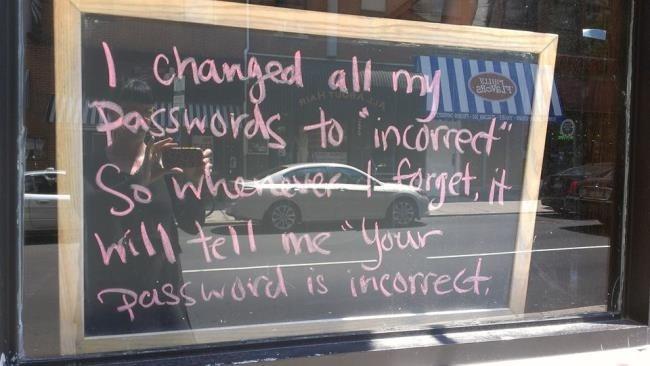 تم تغيير كل كلمات المرور الخاصة بي إلى غير صحيحة