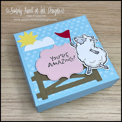 Make this amazingly cute box with the Counting Sheep stamp set and dies in today's Mystery Stamping!