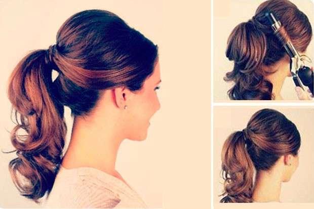 peinados sencillos para cabello largo