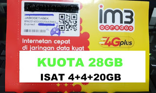 Paket internet Murah indosat 28GB